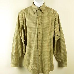 Brooks Brothers Men's Long Sleeve Wool Blend Shirt
